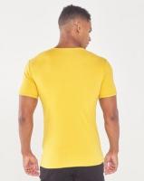 Jonathan D Cancun Slim Fit V-Neck T-Shirt Mustard Photo