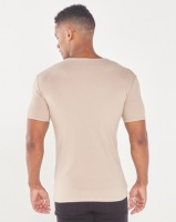 Jonathan D Cancun Slim Fit V-Neck T-Shirt Stone Photo