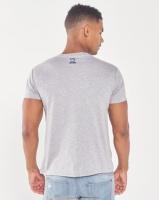 Xplicit Attire Statement Print T-shirt Grey Marl Photo