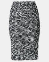 AX Paris Mix Knit Pencil Skirt Black Photo