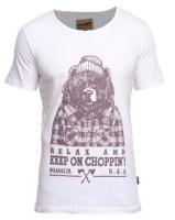 Wrangler Bear With Me T-shirt White Photo