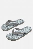 Cotton On - Bondi Flip Flop - Washed black/rippes Photo