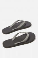 Cotton On - Bondi Flip Flop - Black/grey Photo