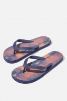 Cotton On - Bondi Flip Flop - Navy/maroon plasma Photo