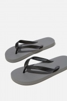 Cotton On - Bondi Flip Flop - Grey/black Photo