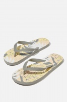 Cotton On - Bondi Flip Flop - Yellow/palm collage Photo