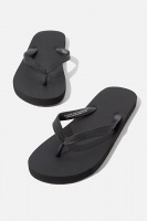 Cotton On - Bondi Flip Flop - Black/black Photo