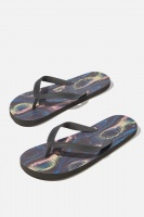 Cotton On - Bondi Flip Flop - Black/glitch sonar Photo