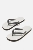 Cotton On - Bondi Flip Flop - White/black Photo