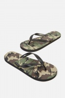 Cotton On - Bondi Flip Flop - Army camo Photo