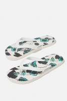 Cotton On - Bondi Flip Flop - White/hibiscus Photo