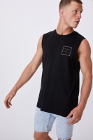 Cotton On Men - Tbar Muscle - Black/liquid supply goods Photo