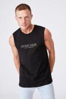 Cotton On Men - Tbar Muscle - Black/good daze colours Photo