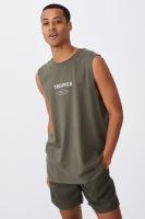 Cotton On Men - Tbar Muscle - Military/tropics Photo