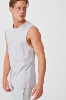 Cotton On Men - Essential Muscle - Light grey marle Photo