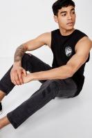 Cotton On Men - Tbar Muscle - Black/slice of paradise Photo