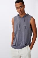 Cotton On Men - Hustle Muscle - Dusty denim/chaos & disrupt circle Photo