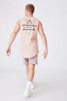 Cotton On Men - Longline Scoop Muscle - Dirty pink/subterranean mindscape Photo