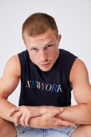 Cotton On Men - Tbar Muscle - True navy/new york colours Photo