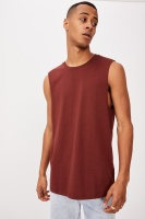 Cotton On Men - Essential Muscle - Barn red Photo
