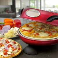 Slush Puppie Rotating Bake & Grill Stone Pizza Oven – Red Photo