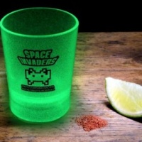 Space Invaders Glow In The Dark Shot Glasses Photo