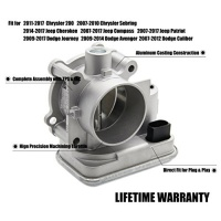 Patriot 04891735AC Complete Electronic Throttle Body Assembly with IAC TPS for Dodge Avenger Caliber Journey Chrysler 200 Sebring Jeep Cherokee Compass Replace # 4891735AB 4891735AC 4891735AD Photo