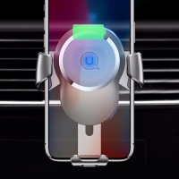 Usams Us-CD47 Gravity Wireless Charger Car Air Vent Holder for Iphone X/8/8 Plus Etc Photo