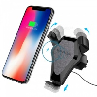 Fast Charge Qi Wireless Charging Pad Car Air Vent Dashboard Holder Mount Charger Photo