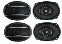 Pioneer 4) 6x9 Inch 3-Way 420 Watt Car Coaxial Audio Stereo Speakers | TS-A6966R Photo