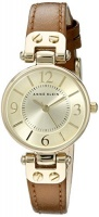 Anne Klein Women's 109442CHHY Gold-Tone Champagne Dial and Brown Leather Strap Watch Photo