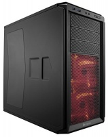 Corsair Graphite Series 230T Side Panel Window with RED LED Fans ATX Compact Mid-Tower Computer Case - Black PC case Photo