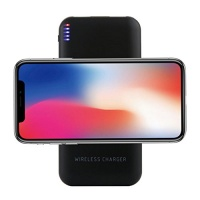 "Creazy Portable External USB Power Bank 8000mAh & Wireless Charger 2"" 1 For Iphone X Photo"