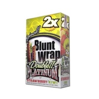 DOUBLE PLATINUM DOUBLE!! PLATINUM CIGAR WRAPS 2 PER PACK STARWBERRY KIWI FLAVOR PACK OF 25 Photo