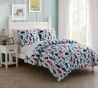 HowPlumb Full Dinosaur Boys Bedding Comforter 7 Piece Dino Bed in a Bag Set with Sheets Photo