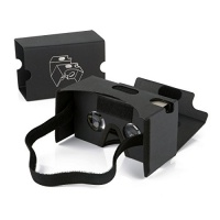 """Elizza Google Cardboard 3D VR Virtual Reality DIY Glasses with head Strap Forehead Pad Nose Pad Sucker Compatible with Android & Apple Up to 6"""" Easy Setup Machine Photo"""