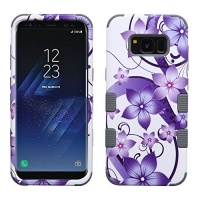 Unique Cell Distributors LLC MyBat Cell Phone Case for Samsung Galaxy S8 - Purple Hibiscus Flower Romance/Electric Purple Photo
