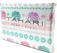 Tahari Home Kids Colorful Elephants Floral Pastel Twin Sheet Set Photo