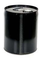 Vestil PAIL-STL-C5-UN100 Closed Head Steel Pail Black Rated UN 1A1/Y1.5/100 Photo