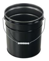 Vestil Manufacturing Corp Vestil PAIL-STL-RI-UN Steel Pail with Handle 5 gallon Capacity Black Photo