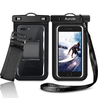 Aunote Waterproof Cell Phone Case Universal Dry Bag Pouch With Armband Lanyard Best Water Proof For Apple iPhone 7 6 6s Plus 5s 5c Samsung Galaxy S8 S7 S6 Or Any Phone Photo