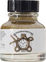 Winsor Newton Winsor & Newton Drawing Ink Bottle 14ml Gold Photo