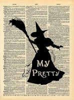 Wizard of Oz Witch Art - Heart Loved By Others Quote - Vintage Dictionary Print 8x10 inch Home Vintage Art Abstract Prints Wall Art for Home Decor Wall Decor Living Room Bedroom Ready-to-Frame Photo