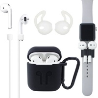 D005 Airpods Case [Airpods Accessories Set][Airpods Ear Hook][Airpods Watch Band Holder][Airpods Keychain][Airpods Strap][Silicone Cover] Best Kit [XCITING] for Apple AirPods Charging Photo