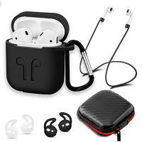 ACV AirPods Case Vitog AirPods Accessories Case Shockproof Protector with Silicone for Apple Airpods 2 Pairs of Secure Ear Hooks 1 Anti-lost Straps and 1 Headset Receiving Box Photo
