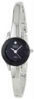 Armitron Women's 75/2433BLK Diamond-Accented Silver-Tone Bangle Watch Photo