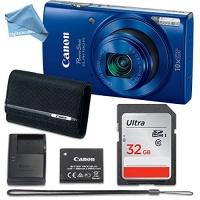 DigitalAndMore Canon PowerShot ELPH 190 Digital Camera with 32GB Memory CANON PSC-2070 CASE Microfiber Cloth Photo
