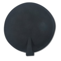 "Chattanooga Black Round Carbon Rubber Electrodes 4"" Diameter Photo"