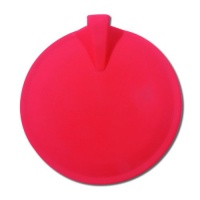 "Chattanooga Red Round Carbon Rubber Electrodes 4"" Diameter Photo"
