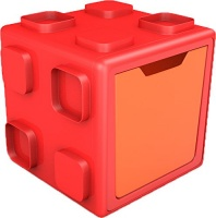 The Chillafish Company NV Chillafish BOX: Connectable Toy Storage and Play System Orange/Pink Photo